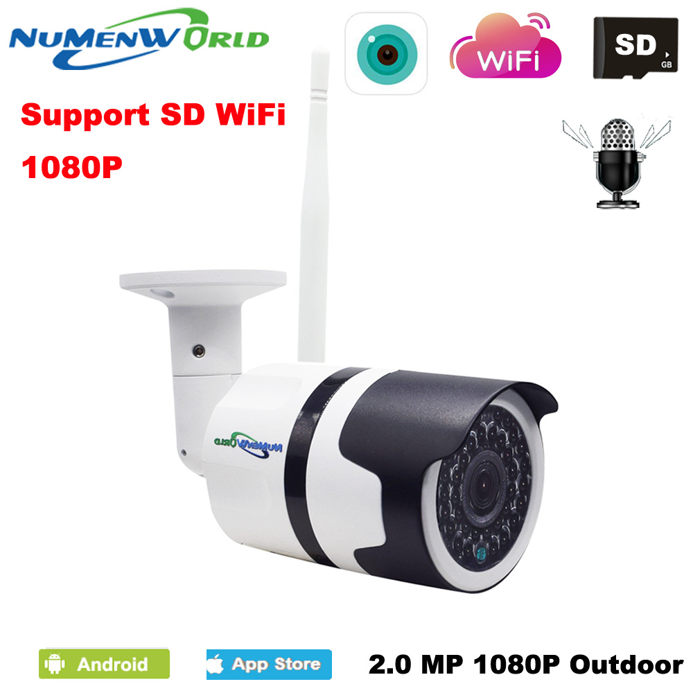 Newest style Outdoor wifi IP camera 1080P security CCTV webcam HD night vision waterproof IP cam with External SD card slotNewest style Outdoor wifi IP camera 1080P security CCTV webcam HD night vision waterproof IP cam with External SD card slot
