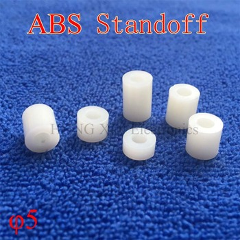 M5 ABS Rround spacer standoff White Nylon Non-Threaded Spacer Round Hollow Standoff Washer PCB Board Screw Spacers image
