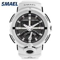 Army Watch Men White SMAEL Brand Quartz Wristwatches Military Relogio Masculino Men Watch Big 1637 Sport