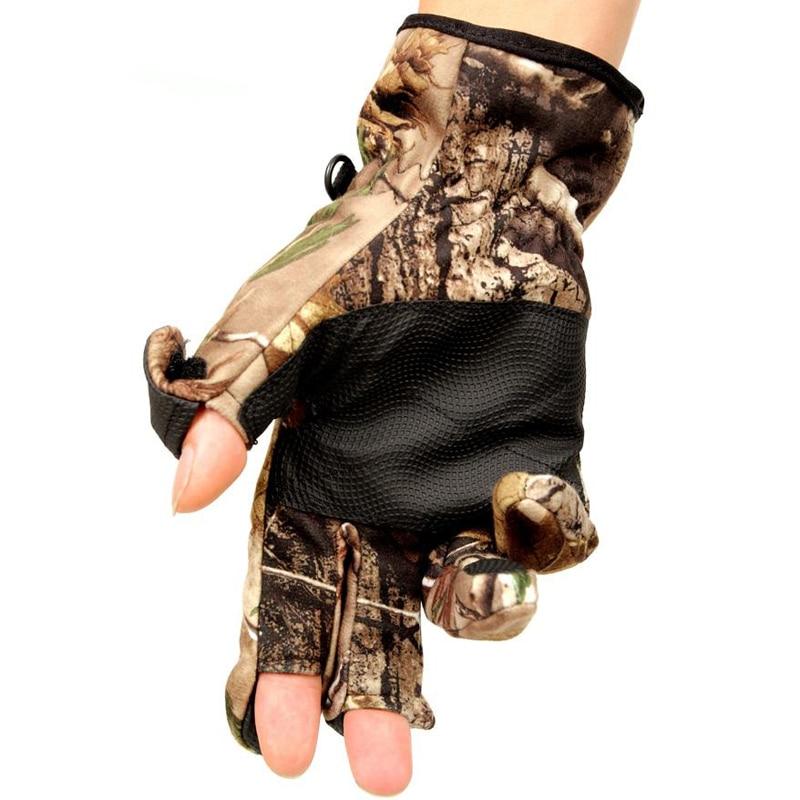 Kamufláž Venkovní teplá bionická větruodolná nepromokavá protišmyková ochrana pohybové rukavice zimní muži dotyková obrazovka horolezecké rukavice