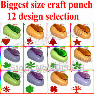 1PC/LOT,7cm labor-saving paper craft punch,12 design selection,Motif punch,Foam punch,Hole punch,DIY cards tools