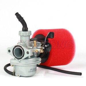 Image 3 - Карбюратор двигателя PZ22 22 мм и воздушный фильтр 38 мм для Keihin 125cc KAYO Apollo Bosuer XMoto Kandi внедорожные/питбайки велосипеды мотовездеход
