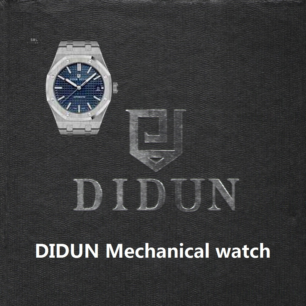 High quality DIDUN brand Mens Watches Top Brand Luxury Mechanical Automatic Watches Male Fashionable Business watch waterproof didun mens automatic mechanical watches top brand luxury watches men steel army military watches male business wristwatch