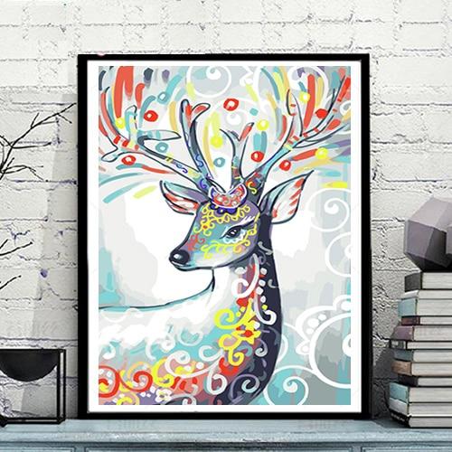 MaHuaf A1600 colorful deer animal coloring by numbers ...