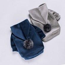 Vêtements d'hiver pour chiens, pour animaux de compagnie, veste pour bouledogue française, vêtements doux pour petits et moyens chiots