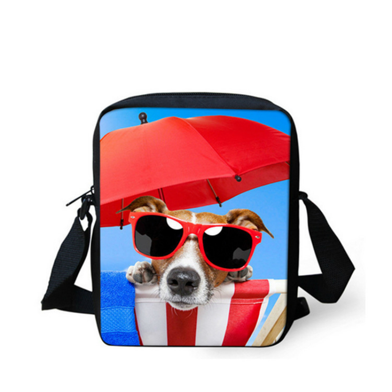 3d photo picture design bag custom kindergarten small Messenger bag mini schnauzer kennel heart kitten customized shoulder bag in Shoulder Bags from Luggage Bags