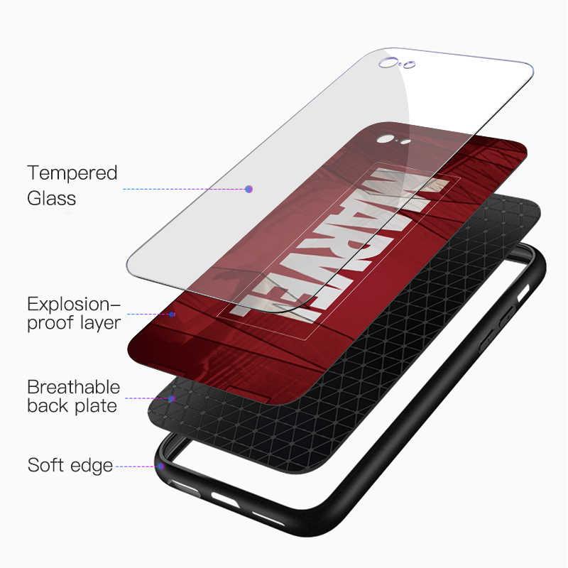 Чехол из закаленного стекла Marvel Мстители для Xiao mi Red mi Note 7 5 6 Pro Plus S2 чехол для mi x 2 2S Max 3 8 9 Lite A1 A2 Cool