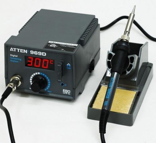 High Precision Digital Soldering Atten 969D Stations Soldering Irons 220V Digital Soldering Stations Soldering Irons цена