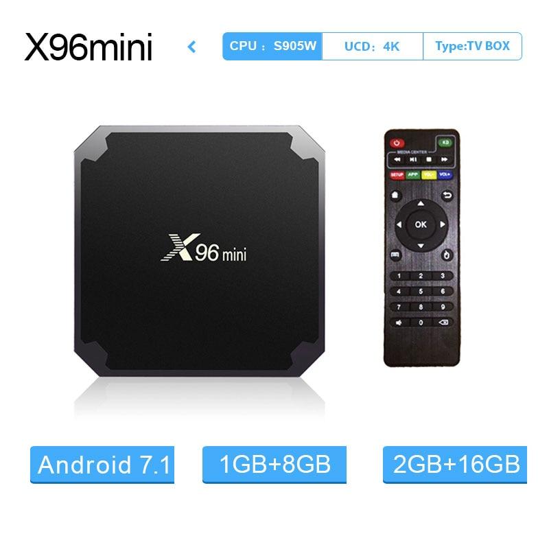 X96 mini Android 7.1 Smart TV Box 1G8G/2G16G Amlogic S905W Quad Core da 2.4 GHz Wifi 4 K HD media Player X96mini Set Top Box