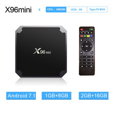 X96 mini Android 7.1 Smart TV Box 1G8G/2G16G Amlogic S905W Quad Core 2.4GHz  Wifi 4K HD Media Player  X96mini Set Top Box