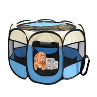 Collapsible Octagonal Pet Tent Dog House Bed Cage Cat Tent Kennel Fence for Large Dogs