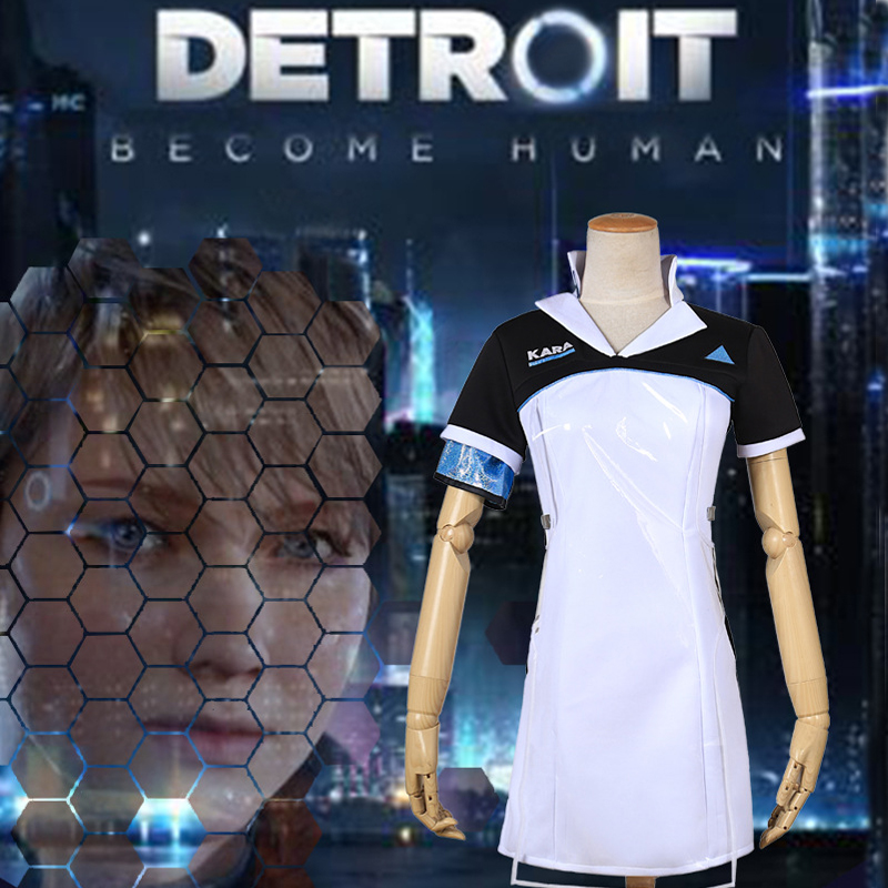 Girls Dress Game Detroit: Become Human KARA Cosplay Costume Code AX400 Agent Outfit  Halloween Carnival Uniforms Party Customes