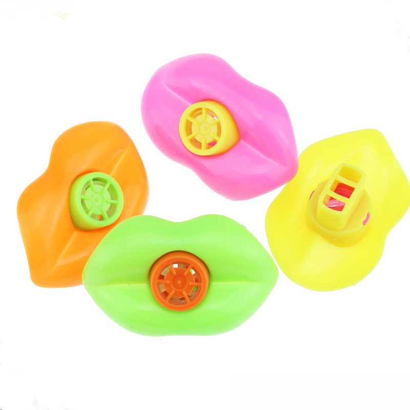5/10pcs Cute Plastic Lip Whistles Fillers Kids Birthday Decoration Party Supplies Gift Toys Christmas Party Toy