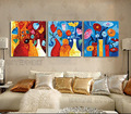 DIY digital painting abstract decorative triptych / special offer room three spell 50*150 colorful