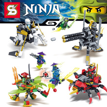 4 set/lot 2 en 1 figuras de Anime Ninjan COLE JAY MAESTRO MORRO NAY KAI Bloque de Construccion