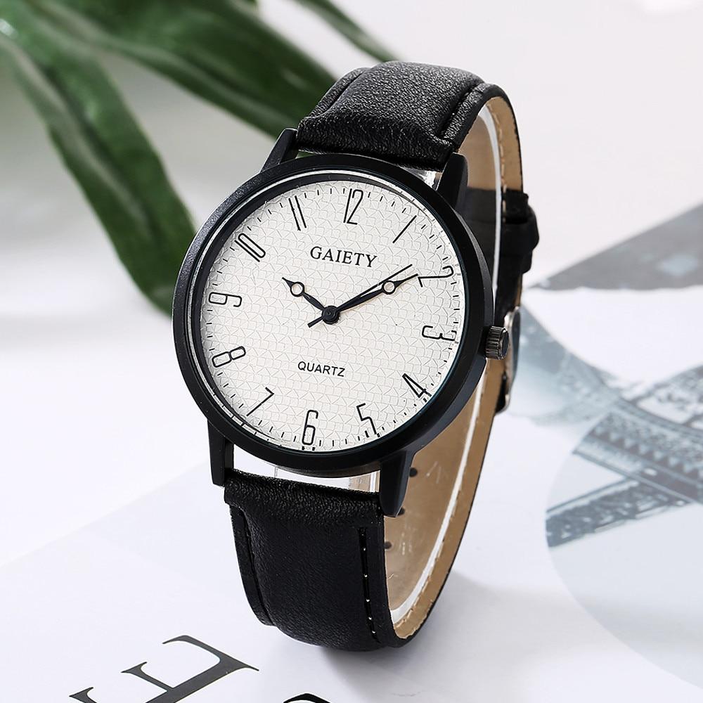 Relogio 2019 NEW Women Fashion Watch Retro Design Big Dial Analog Quartz Wrist Watches Clock Women's PU Leather Sports Watch