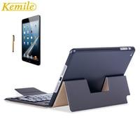 Kemile Ultra Slim Magnetic Holder Leather Case Cover Bluetooth Keyboard For IPad Mini 4 Tablet Keypad
