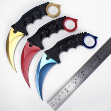 CSGO Counter Strike Karambit Knife Fixed Blade Knife tactical survival camping Hunting knives Real game Knifes CS01