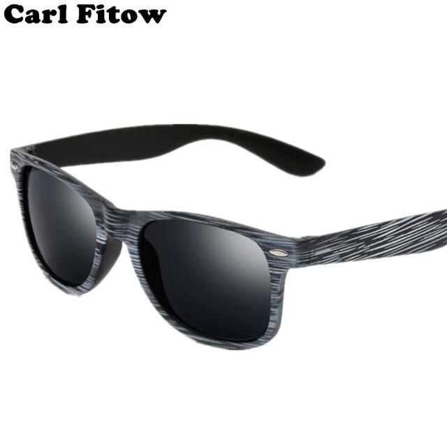 2044e39101a Color Film Sunglasses Vintage Wood Grain Sun Glasses Men Women Rice nail  grain Retro Sunglass Famous Brand Designer