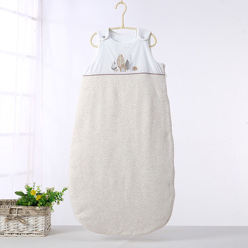 Baby newborn sleeveless baby boys & girls sleeping bags soft kids winter warm thick cotton kick quilt sleeping bag long zipper infant baby sleeping bag baby blankets quilt thick natural cotton sleeping bag detachable sleeves newborn swaddling clothes