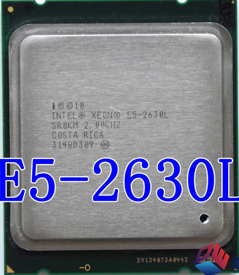 Intel xeon E5-2630L e5 2630L 2.0GHz LGA2011 presa 6-Core server di Intel processore E5 2630L CPU può wrok