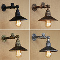 Industrial Loft Iron Rust Water Pipe Retro Wall Lamp Vintage E27 Sconce Lights With Switch For Bedroom Restaurant Bar luminaire