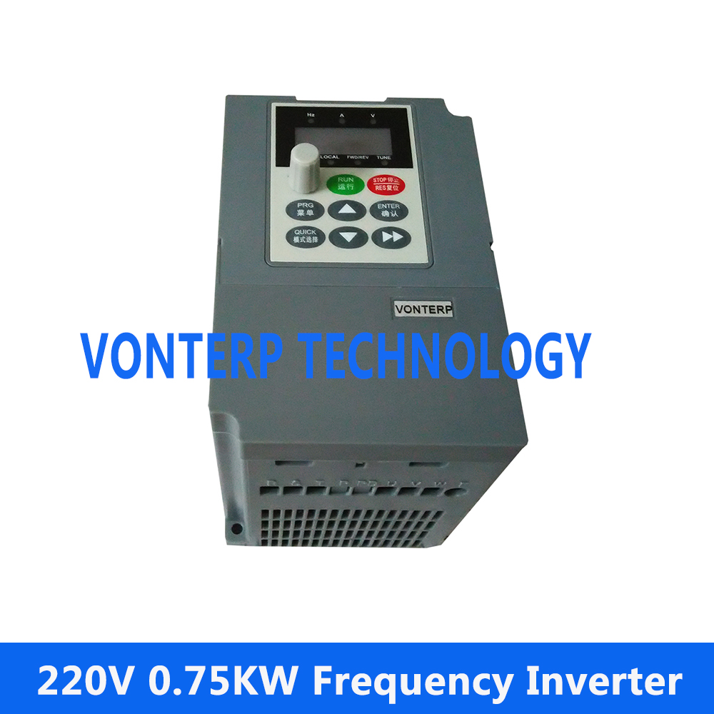 цена на Single phase 220V input and  3 phase 220V output 0.75kW AC drives/frequency inverter