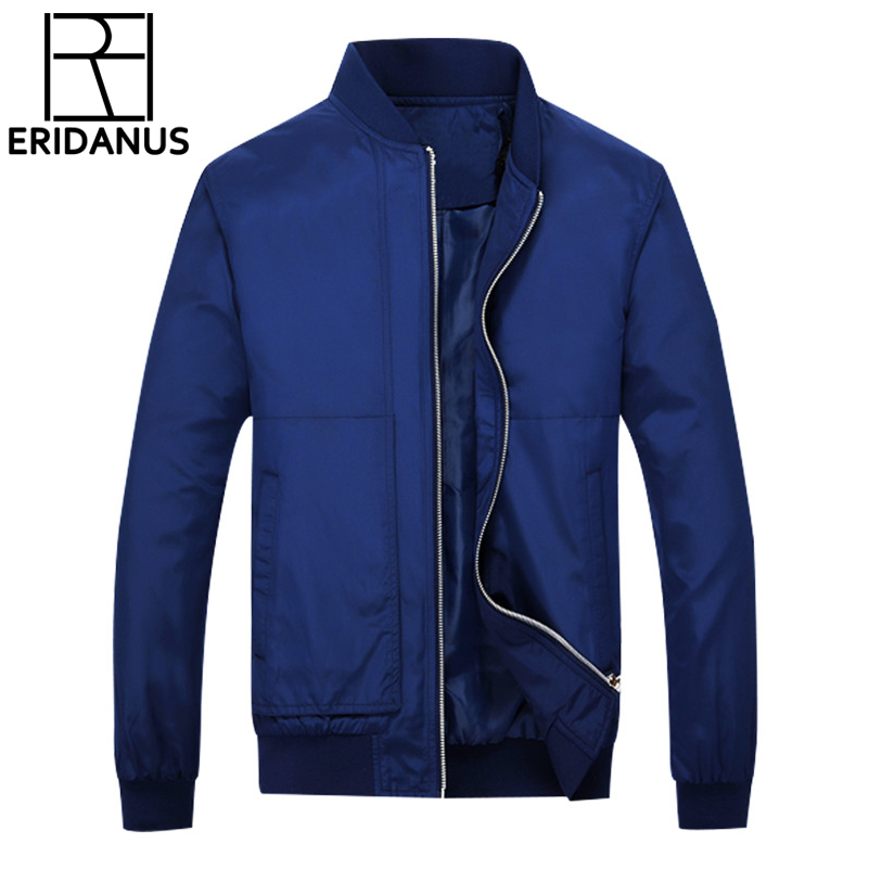 2017 Winter Jacket Men Solid Design Brand Mens Windbreakers Slim Fit Outerwear Casual Clothing Jaqueta Masculina 3XL 4XL X365
