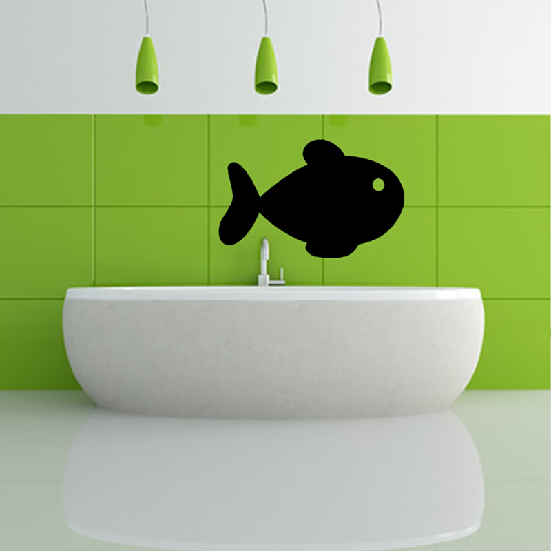 1 Pcs Removable Waterproof Simple Fish Design Wall Sticker Home Decor For Bathroom Three Sizes Can Choose