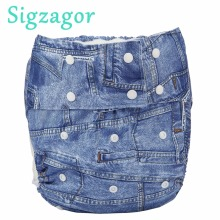 [Sigzagor] 1 тканевый подгузник для взрослых подростков, подгузник с карманом, непромокаемый многоразовый костюм для ролевых игр