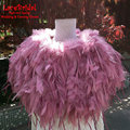 Luxury Warm Winter Dusty Rose Ostrich Feather Wedding Shawls 2017 Women Shrug Bridal Coats Bolero Capes Wedding Accessories B139