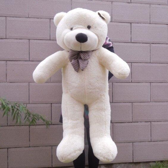 Гигантский большие белый/светло-коричневый/темно-коричневый/розовый плюшевый мишка 100 см плюшевый мишка игрушки готовой кукла - Высота: 1m white olor