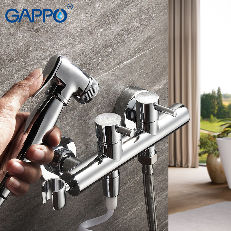 GAPPO Hot and cold water spray gun faucet wall mounted Bidet Faucets brass bathroom shower sprayer washer mixer faucet