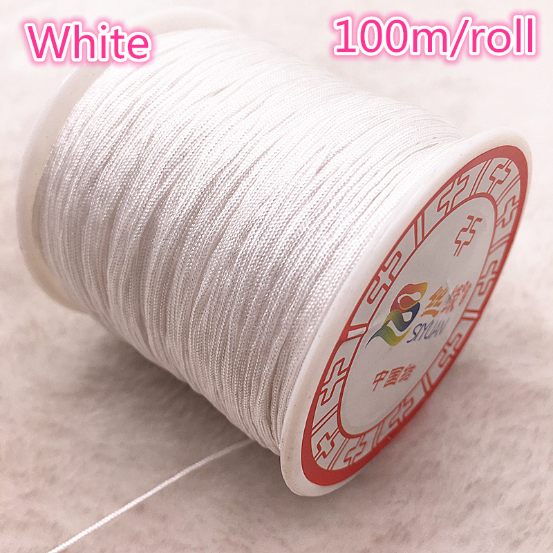 100M Roll 0 8mm Nylon Cord Thread Chinese Knot Macrame Cord Bracelet Braided String DIY Tassels Beading Shamballa String Thread in Jewelry Findings Components from Jewelry Accessories