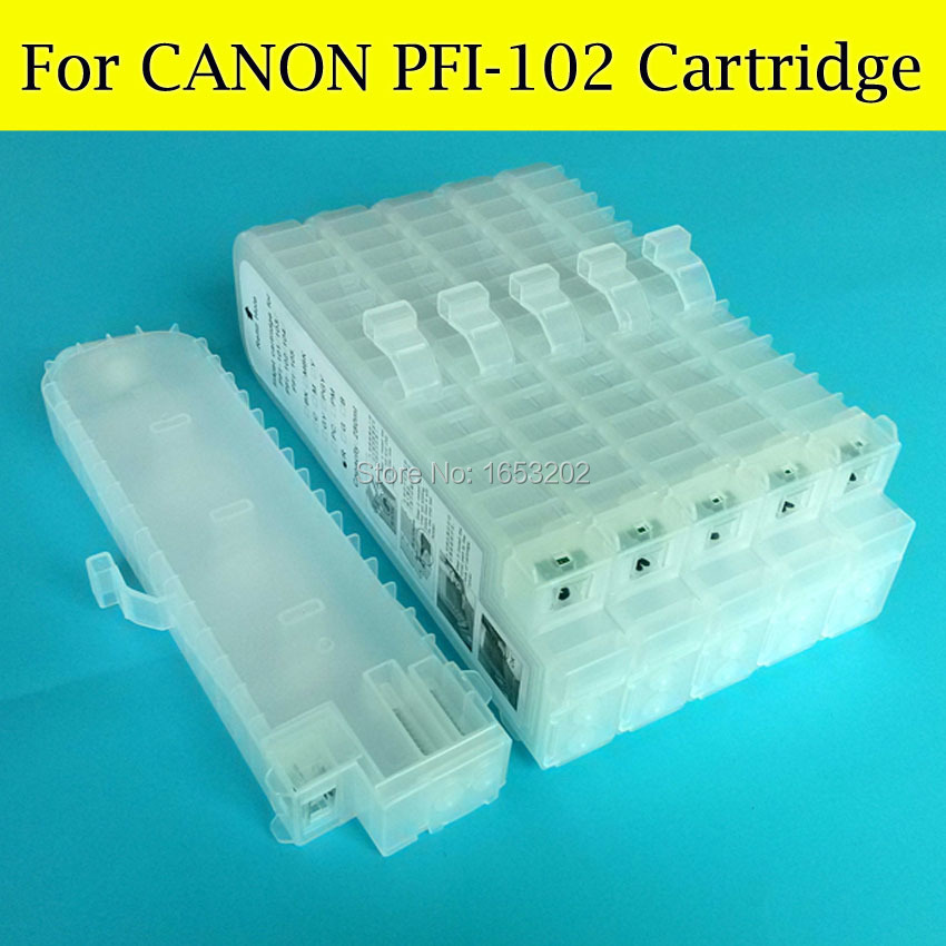 6 Color/Set PFI 102 104 Refill Ink Cartridge For Canon iPF650 iPF655 iPF750 iPF755 iPF760 iPF765 iPF765MFP With Chips great performance product refillable ink cartridge for canon ipf 8310 pfi 704 ink cartridge