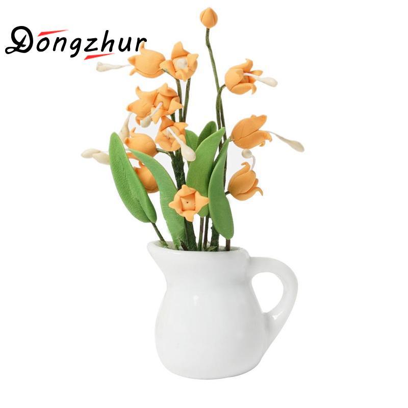 Pretty Flower Vase Miniature Dollhouse Ornament Miniaturas Casa De