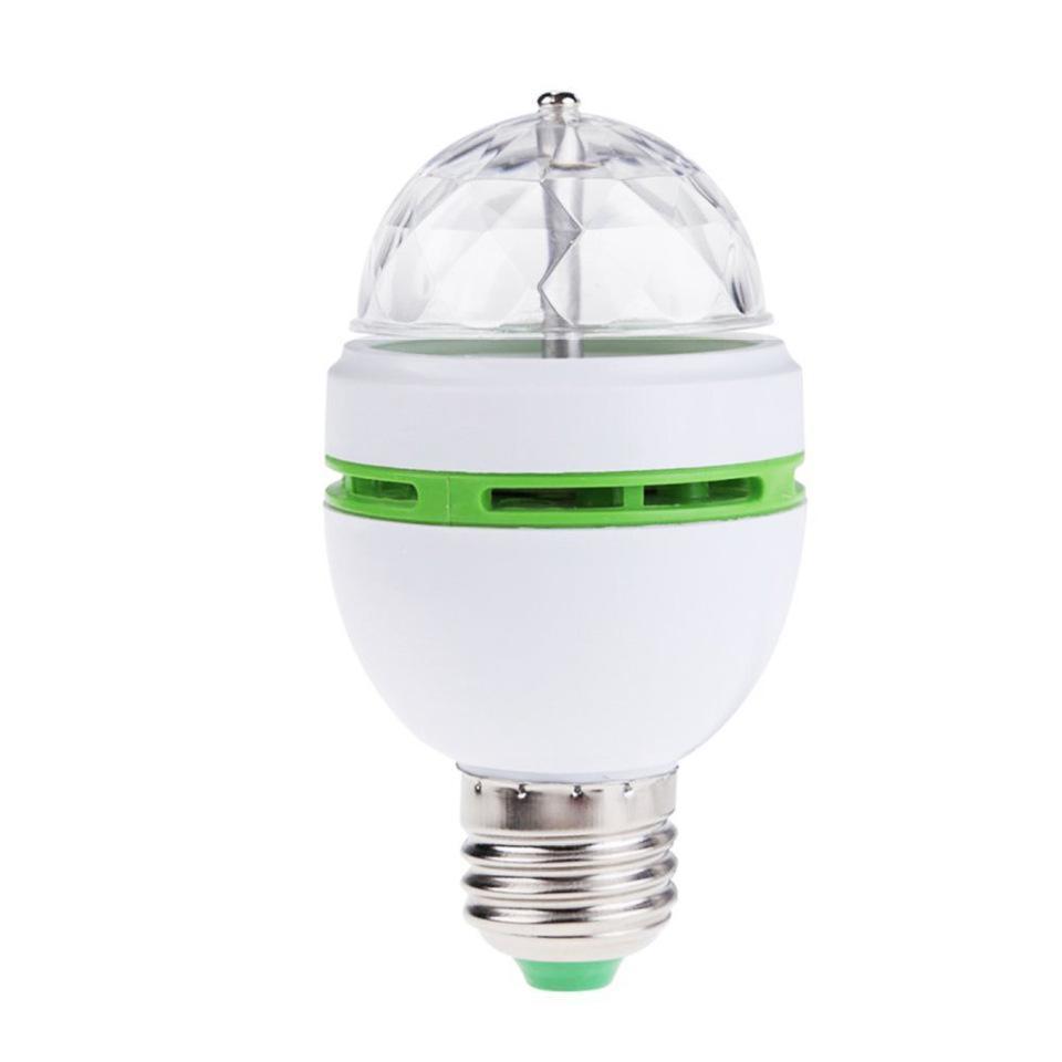 E27 3W AC85-260V Colorful Auto Rotating RGB LED Bulb Stage Light Disco DJ Party Lamp Holiday Bulb for Bar KTV Lighting