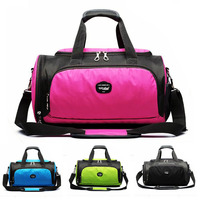 2018 Fitness Gym Bag Waterproof Outdoor Bag With Shoes Compartment Sac De Sports Cylindrical Bag For
