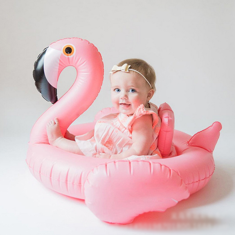 Pink Flamingo babies swimming race high quality lovely children swimming pool accessories toys baby swim ring