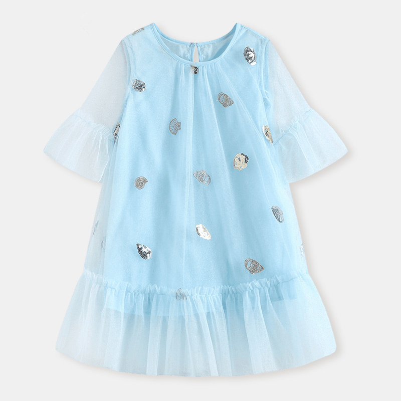 WL.MONSOON Brand 2018 New Spring and summer Korean version Princess dress child Girls dress Western style Mesh dress женское платье dress new brand 2015 thetest summer dress