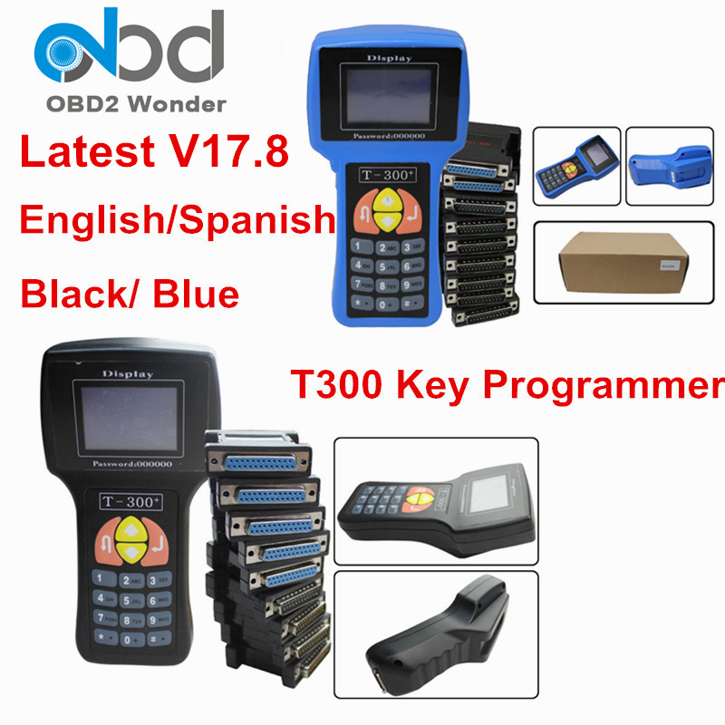 DHL Free T300 Auto Key Programmer T 300 T 300 V17 8 Car Key Maker English