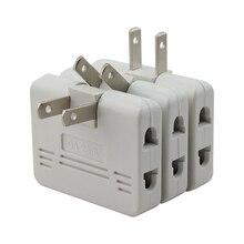 3 pçs plug mini tomada conversor de energia girar carregador adaptador de soquete de parede divisor conversor de um a três conversão de energia