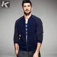 2017 Spring Mens Fashion Sweatshirts Striped Zipper Blue Brand Clothing For Man S Slim Fit Clothes
