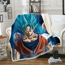 Anime&Dragon Ball 3D Printed Sherpa Blanket Couch Quilt Cover Travel Bedding Outlet Velvet Plush Throw Fleece Blanket Bedspread