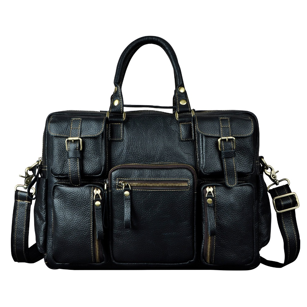 2012 fashion vintage galen häst läder handväska resväskan manliga - Väskor för bagage och resor - Foto 4