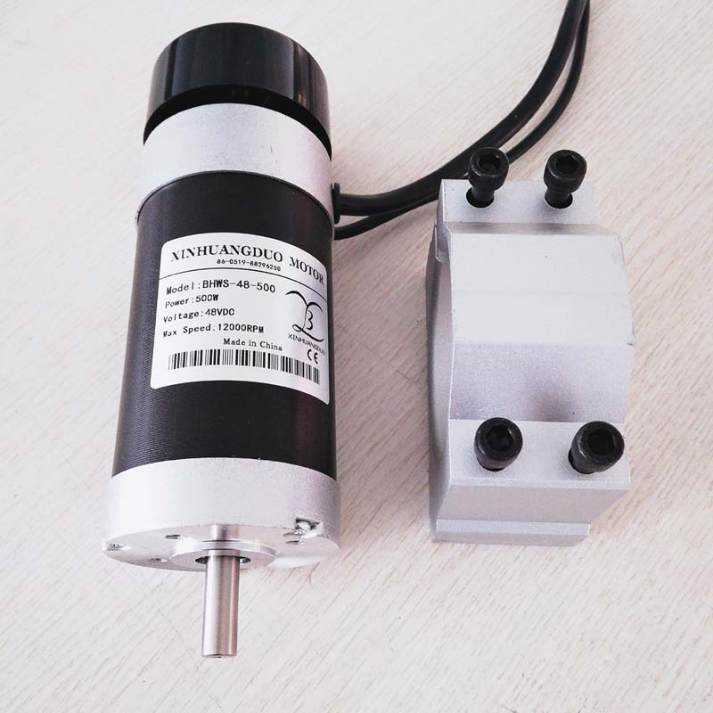 500W DC brushless motor High Speed big torque DC 0 48V CNC Carving Milling Air cold