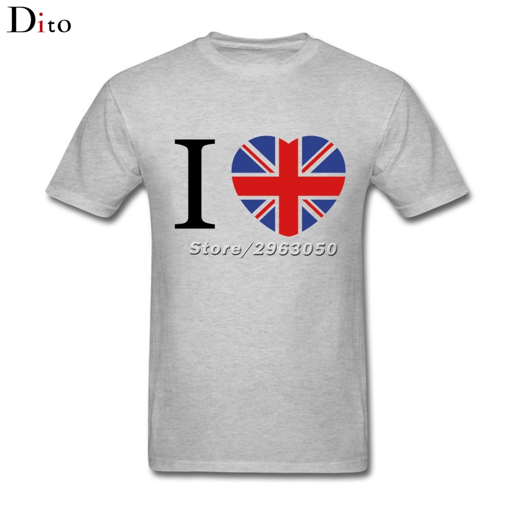 Design t shirt online uk - I Love Uk Flag And Heart Shirt Men S Top Design Custom Short Sleeve Boyfriend S Xxxl Couple