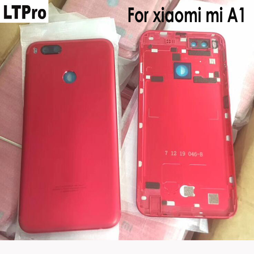 High Quality Battery Cover Housing Door Back Case For Xiaomi Mi A1 MiA1 Metal Rear Cover+Power Volume Key+Camera Glass Lens