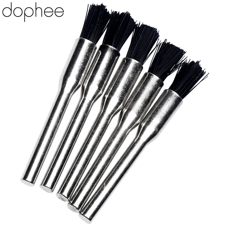 Dophee Dremel Accessories Pen-style Nylon Dremel Wire Brush Burr Brush Buffing Wheels Polishing Buffing For Dremel Rotary Tool*5