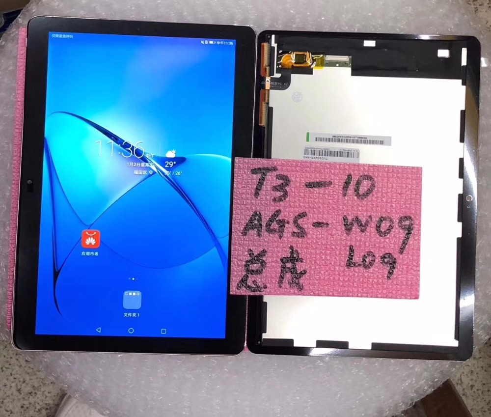 For Huawei MediaPad T3 10 AGS W09 AGS L09 LCD Display+Touch Screen Assembly black or white